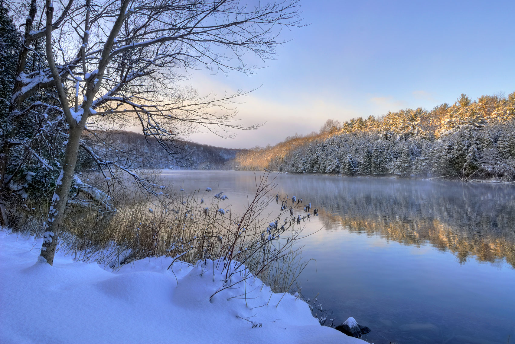 Winter Morning, Green Lakes State Park, New York State