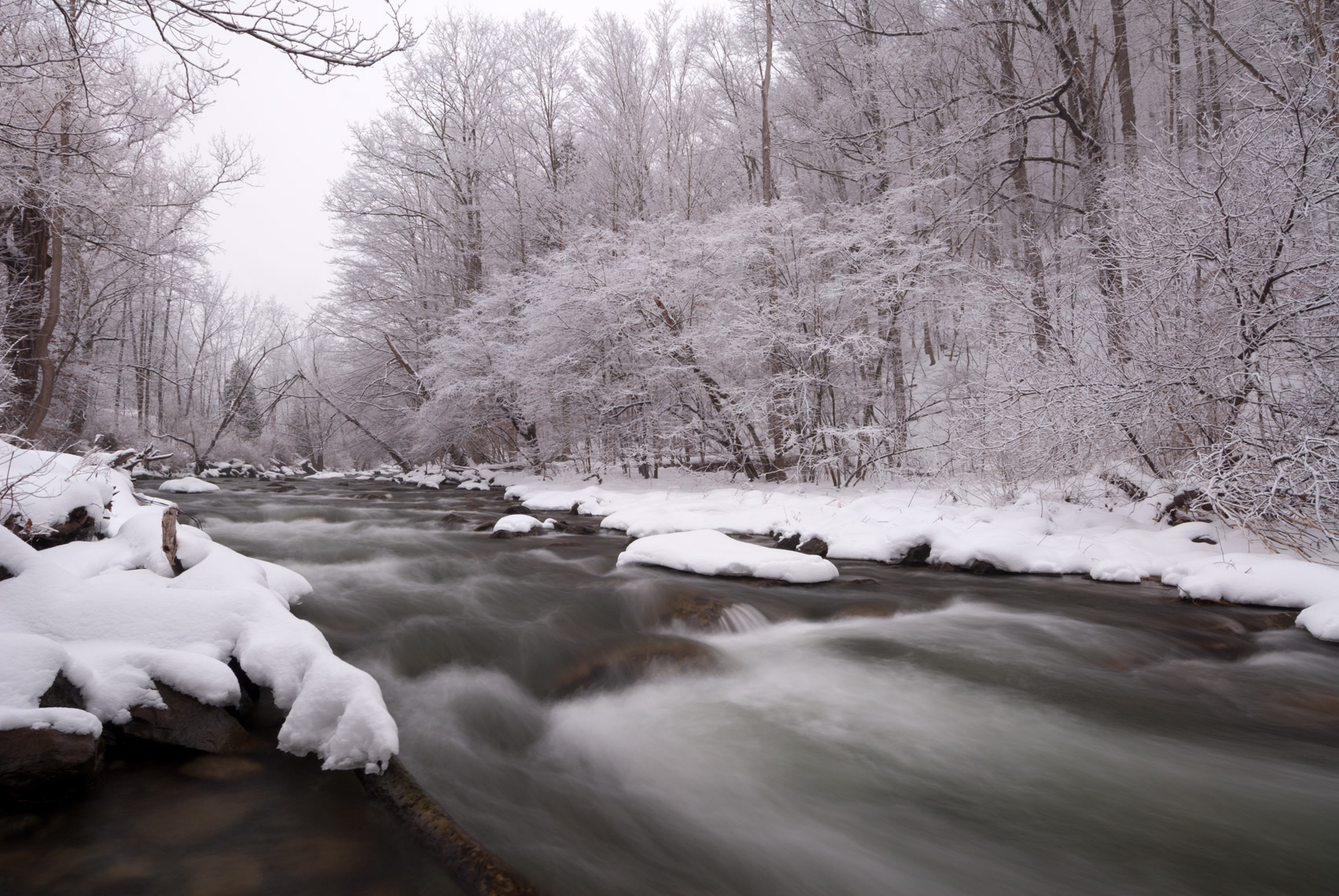 Chittenango Creek in Winter, New York State