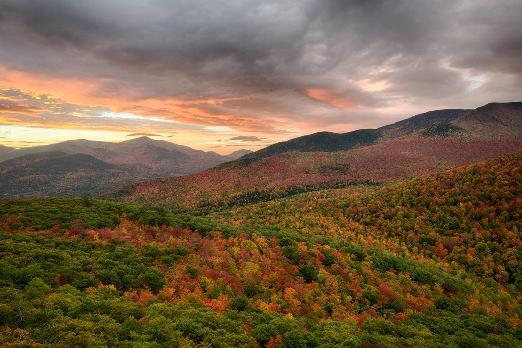 Autumn Morning on Owls Head, Adirondack Mountains, New York State