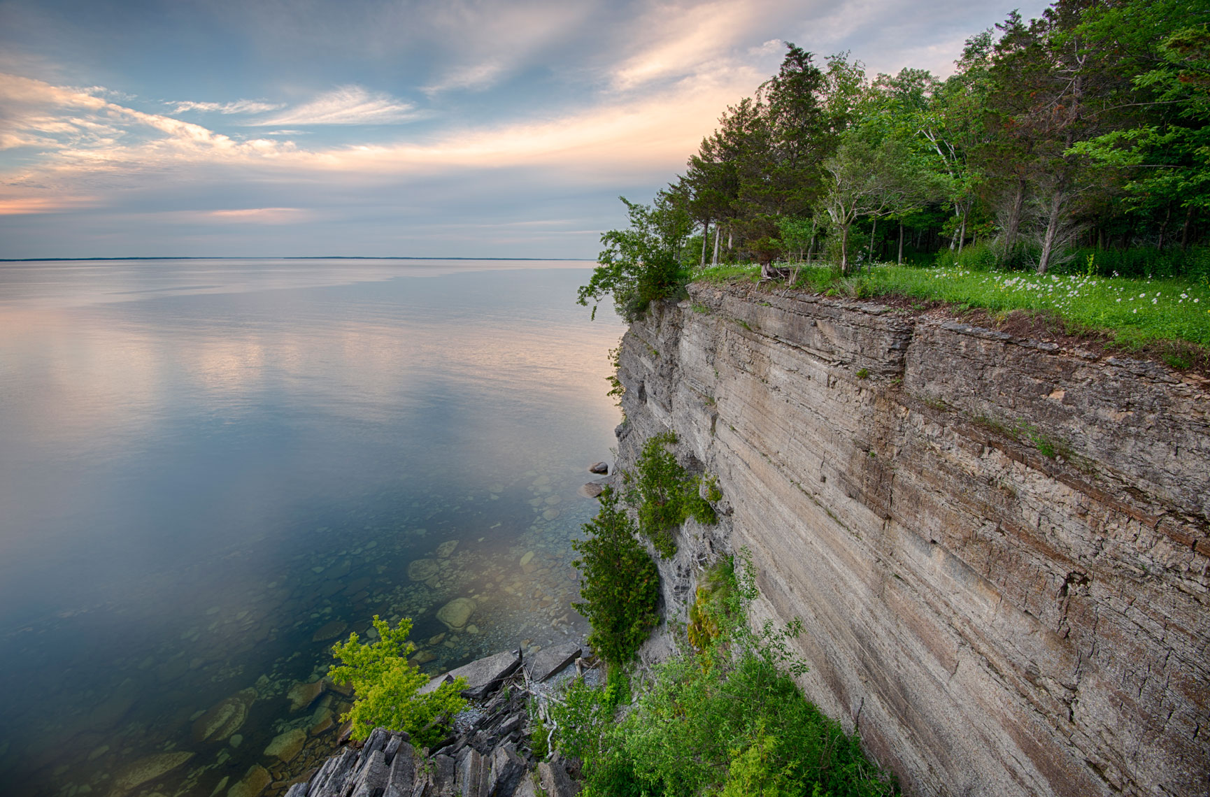 Limestone Bluffs, Lake Ontario, New York State