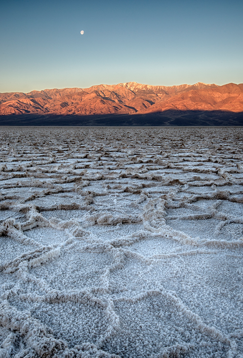 Salt Polygons in Badwater Basin, Death Valley National Park, California