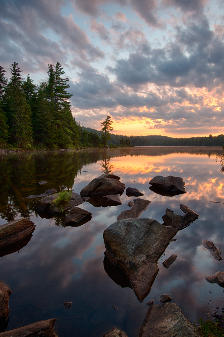 Dawn on Sprague Pond, Adirondack Mountains, New York State