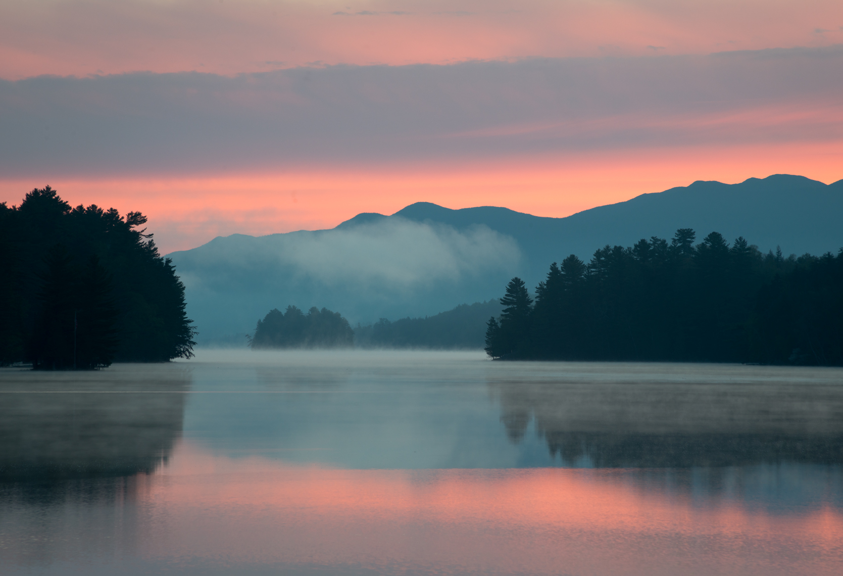 Dawn on Long Lake, Adirondack Mountains, New York State