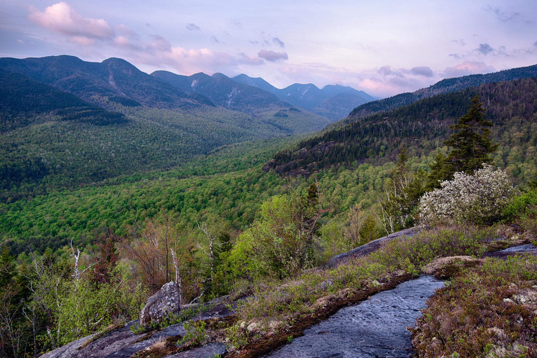 Spring Morning View of the Great Range, Adirondack Mountains, New York State