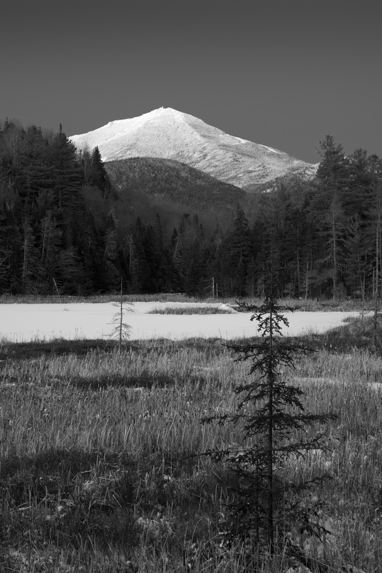 Black and White Image of Whiteface Mountain, Adirondack Mountains, New York State