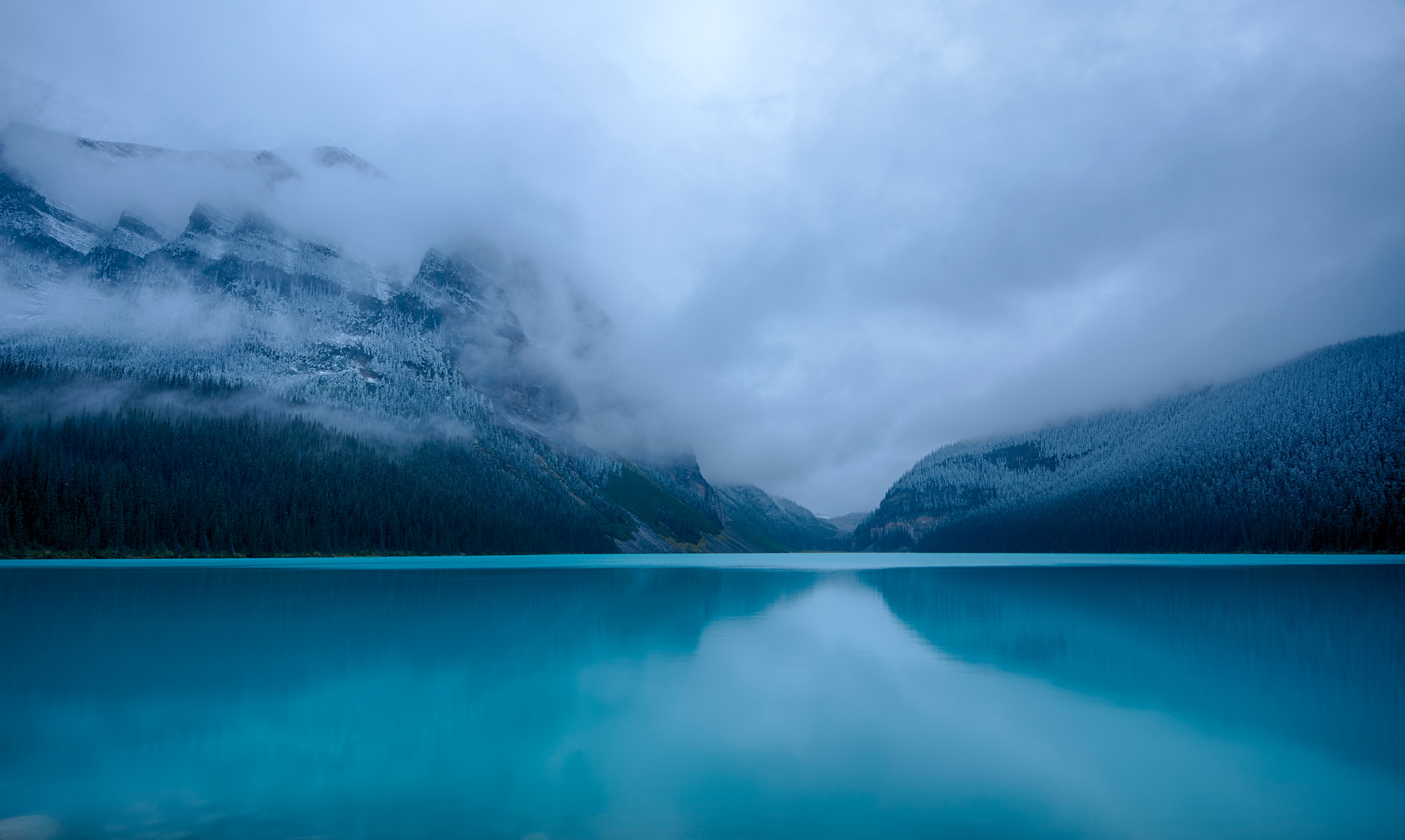 Clearing Storm on Lake Louise, Banff National Park, Alberta, Canada