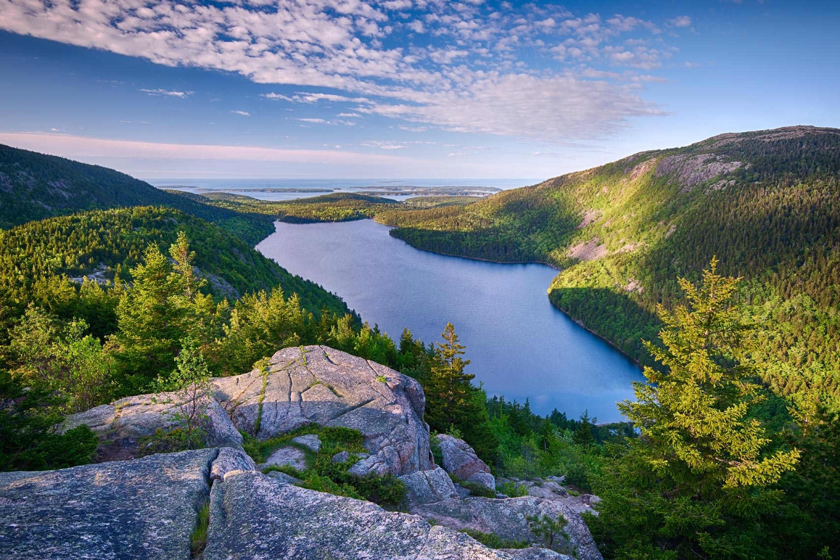 Jordan Pond from North Bubble, Acadia National Park, Maine
