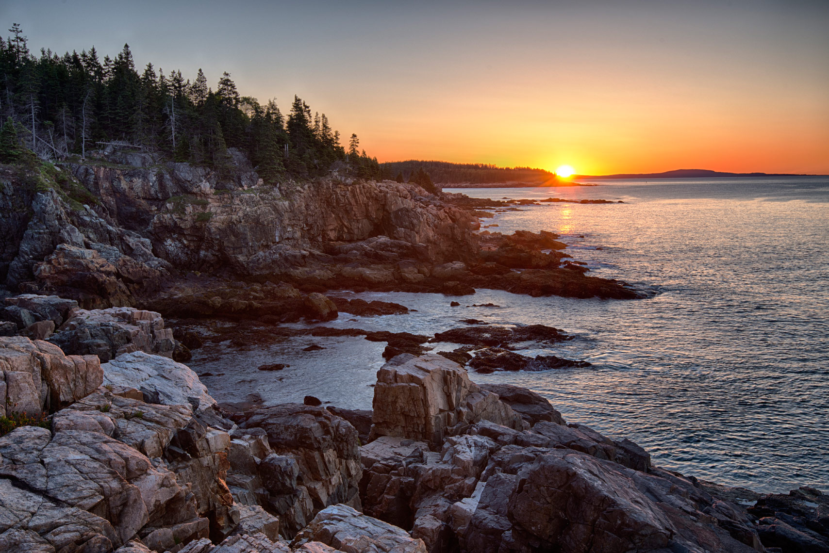 Little Hunters Beach at sunrise, Acadia National Park, Maine