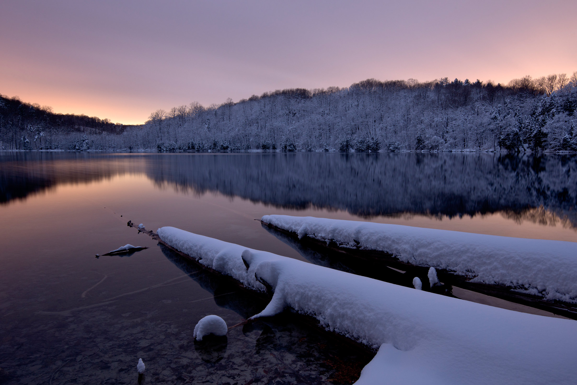 Winter Dawn, Green Lakes State Park, New York State