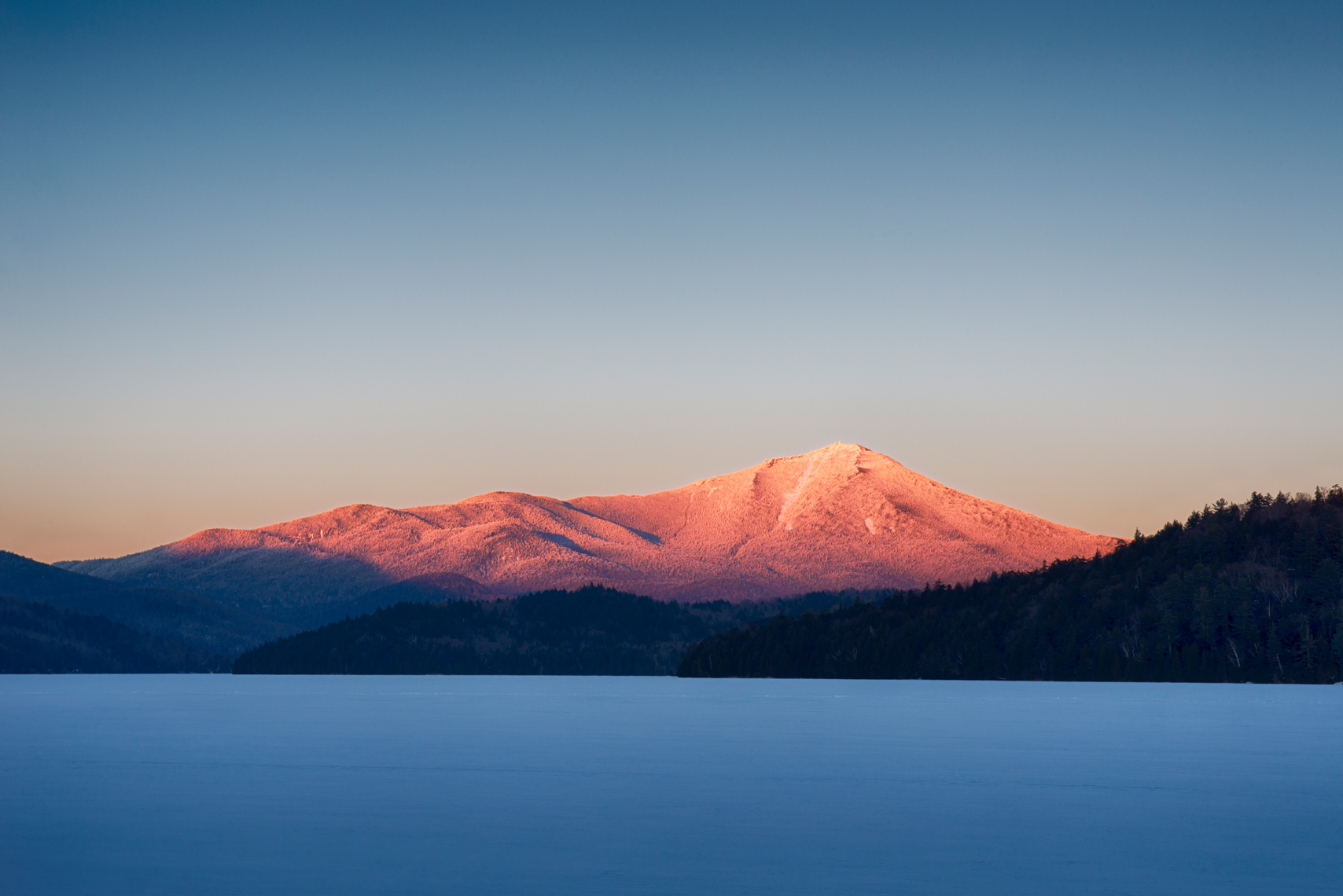 Alpenglow on Whiteface Mountain, Adirondack Mountains, New York