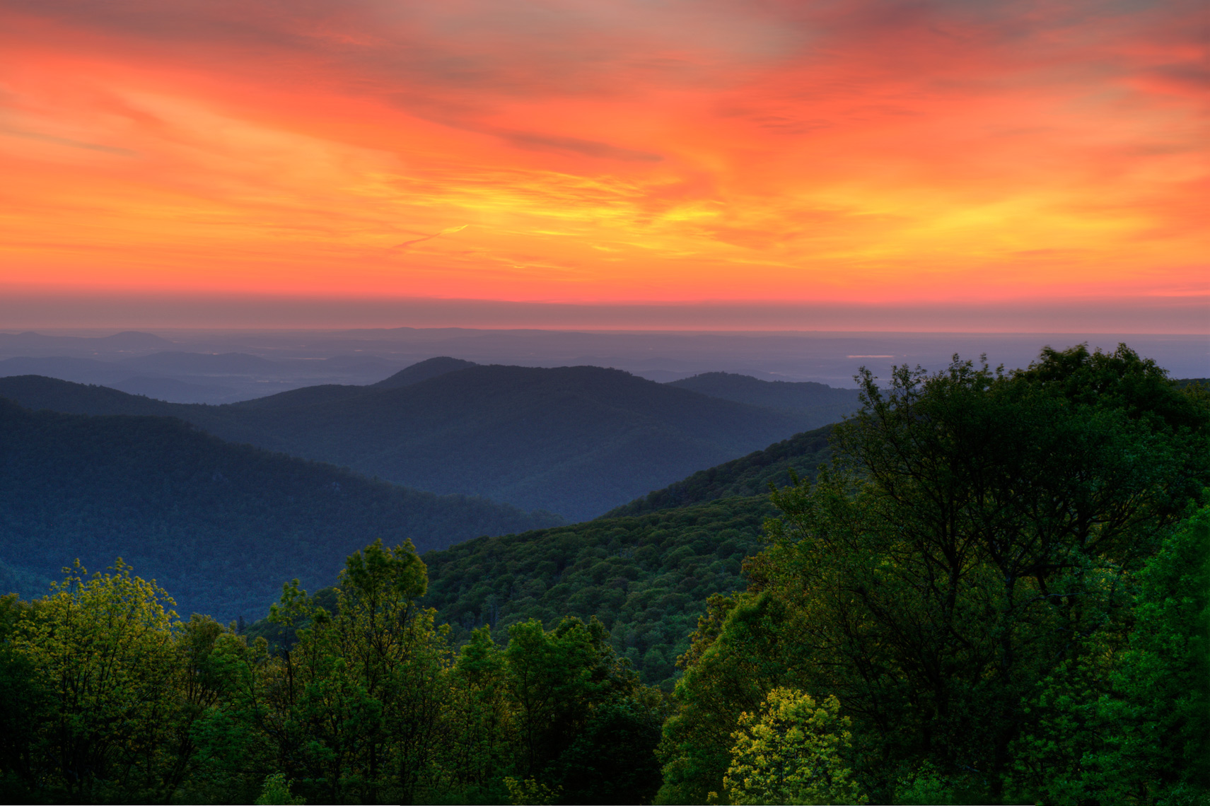 Shenandoah Dawn, Shenandoah National Park, Virginia