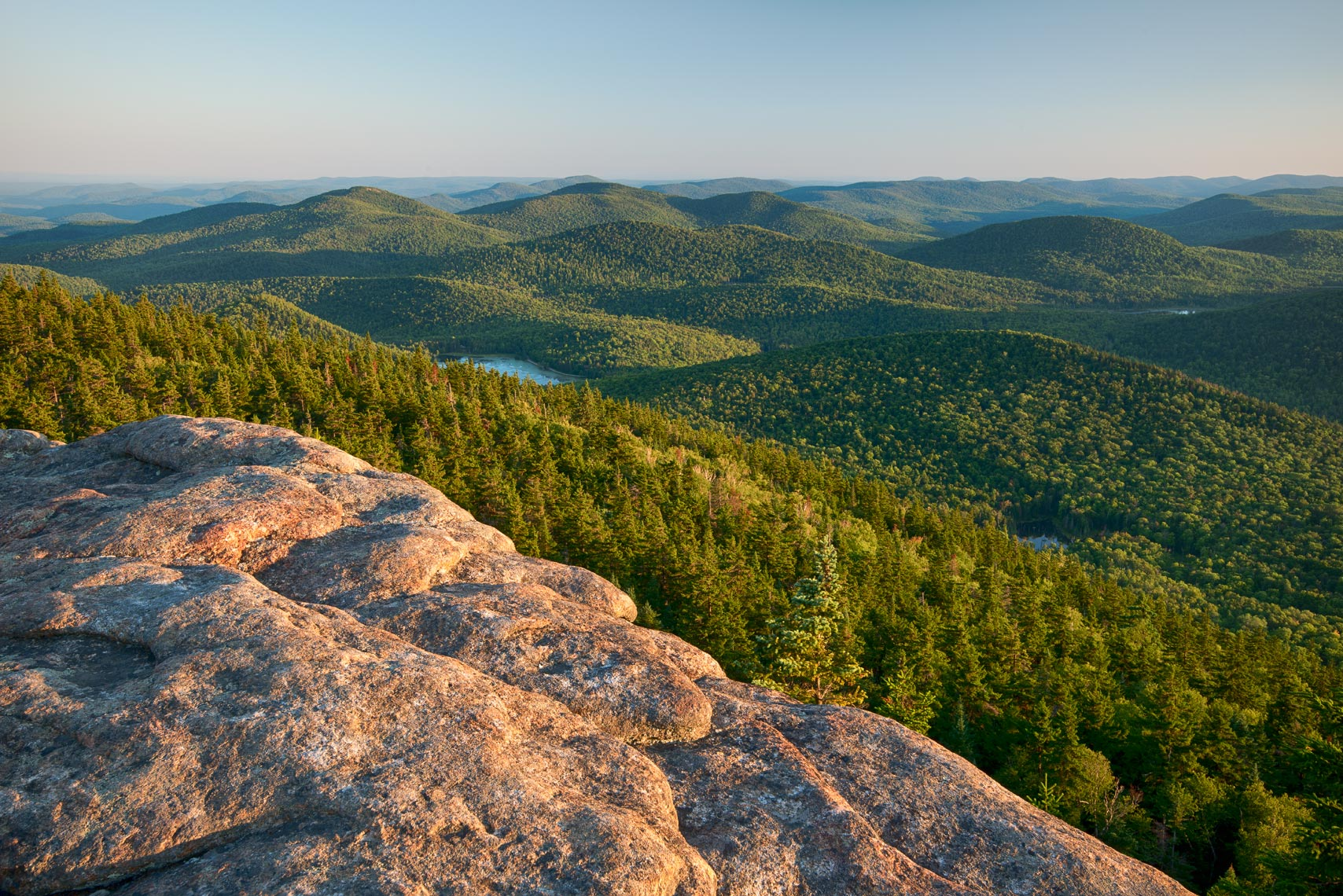 Summer Evening on Crane Mountain, Adirondack Mountains, New York State