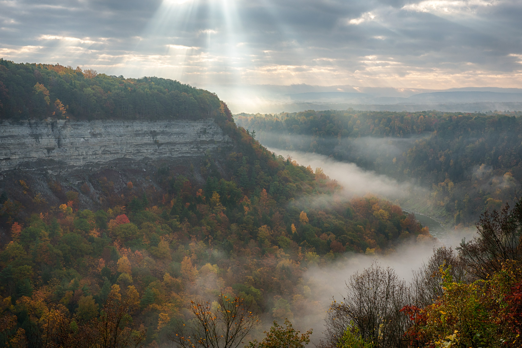 Autumn Morning, Letchworth State Park, Finger Lakes, New York State