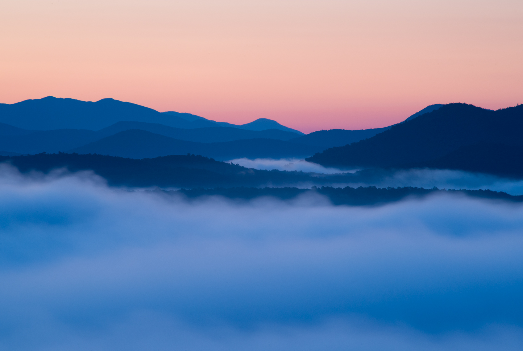 Fog in the Valleys, Adirondack Mountains, New York State