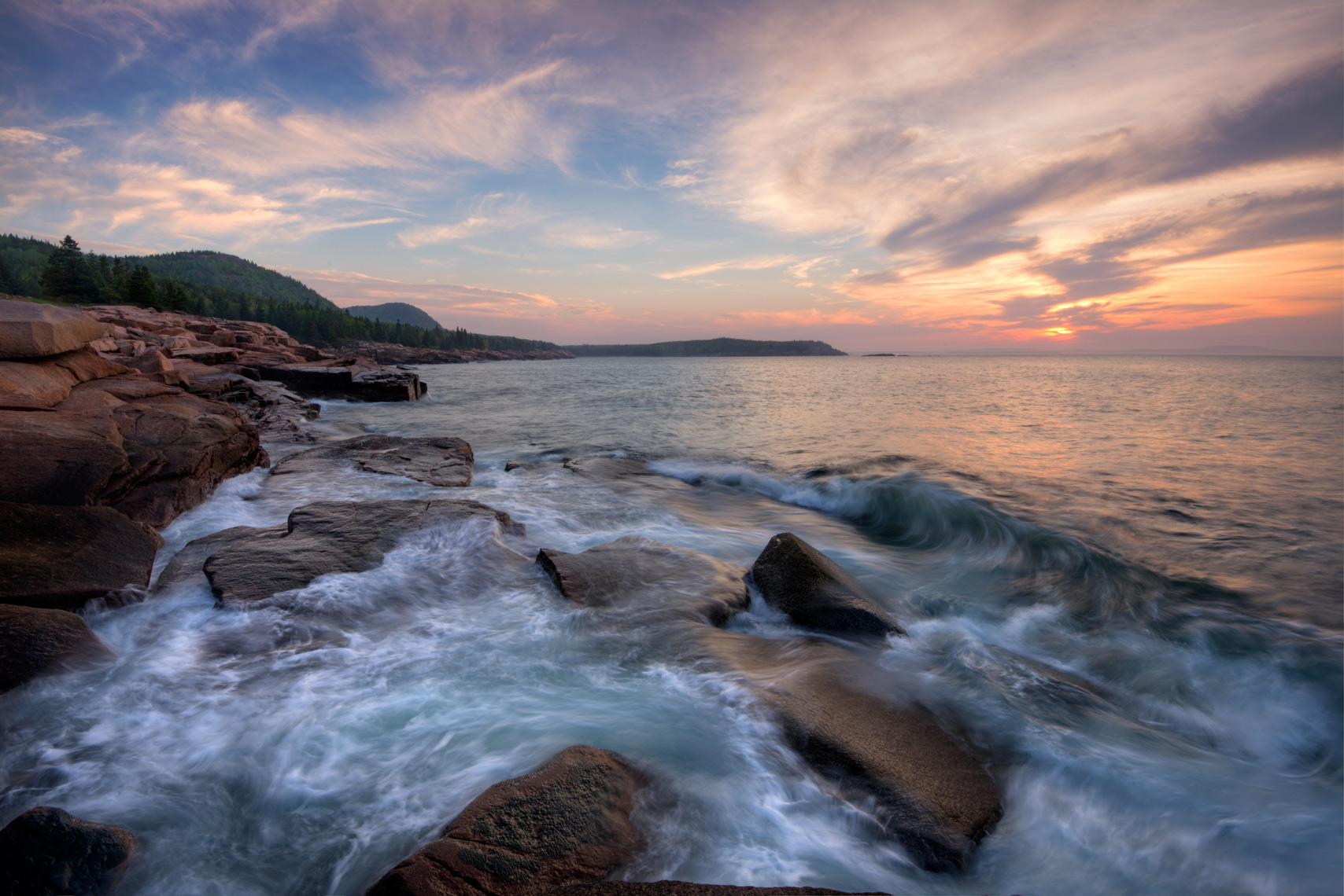 Daybreak along the Acadia Coast, Acadia National Park, Maine