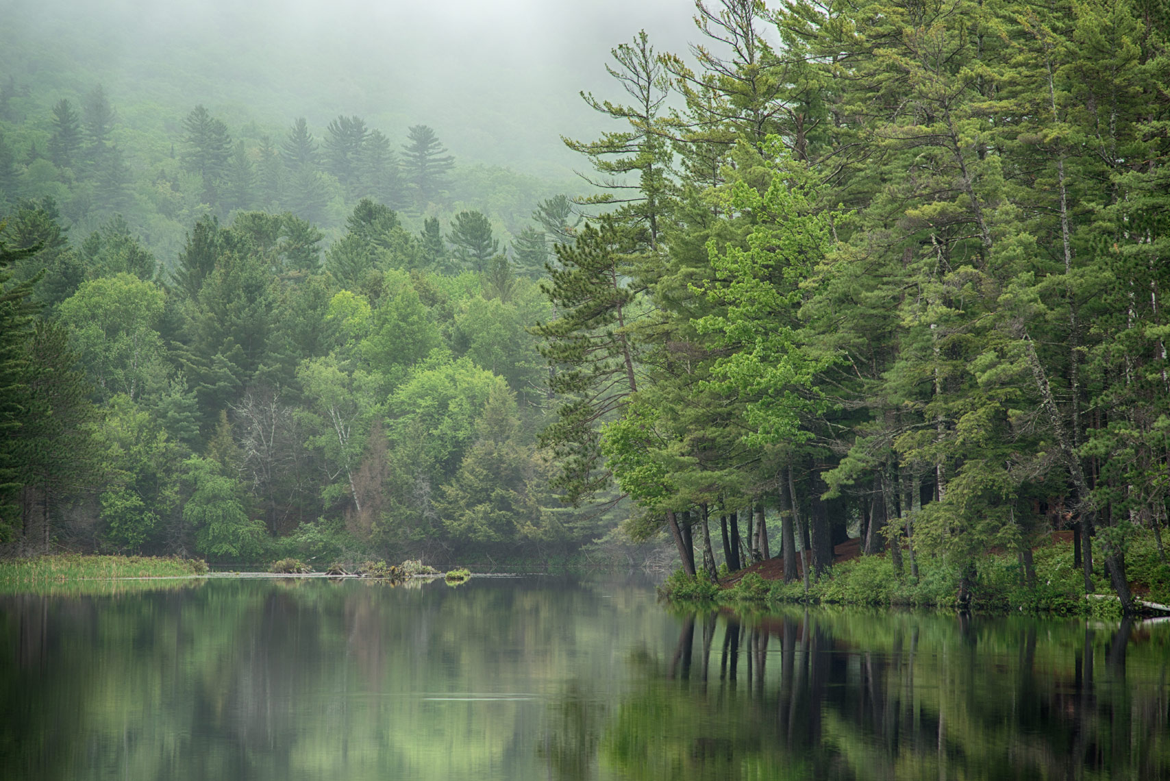 Spring Morning on Long Lake, Adirondack Mountains, New York State