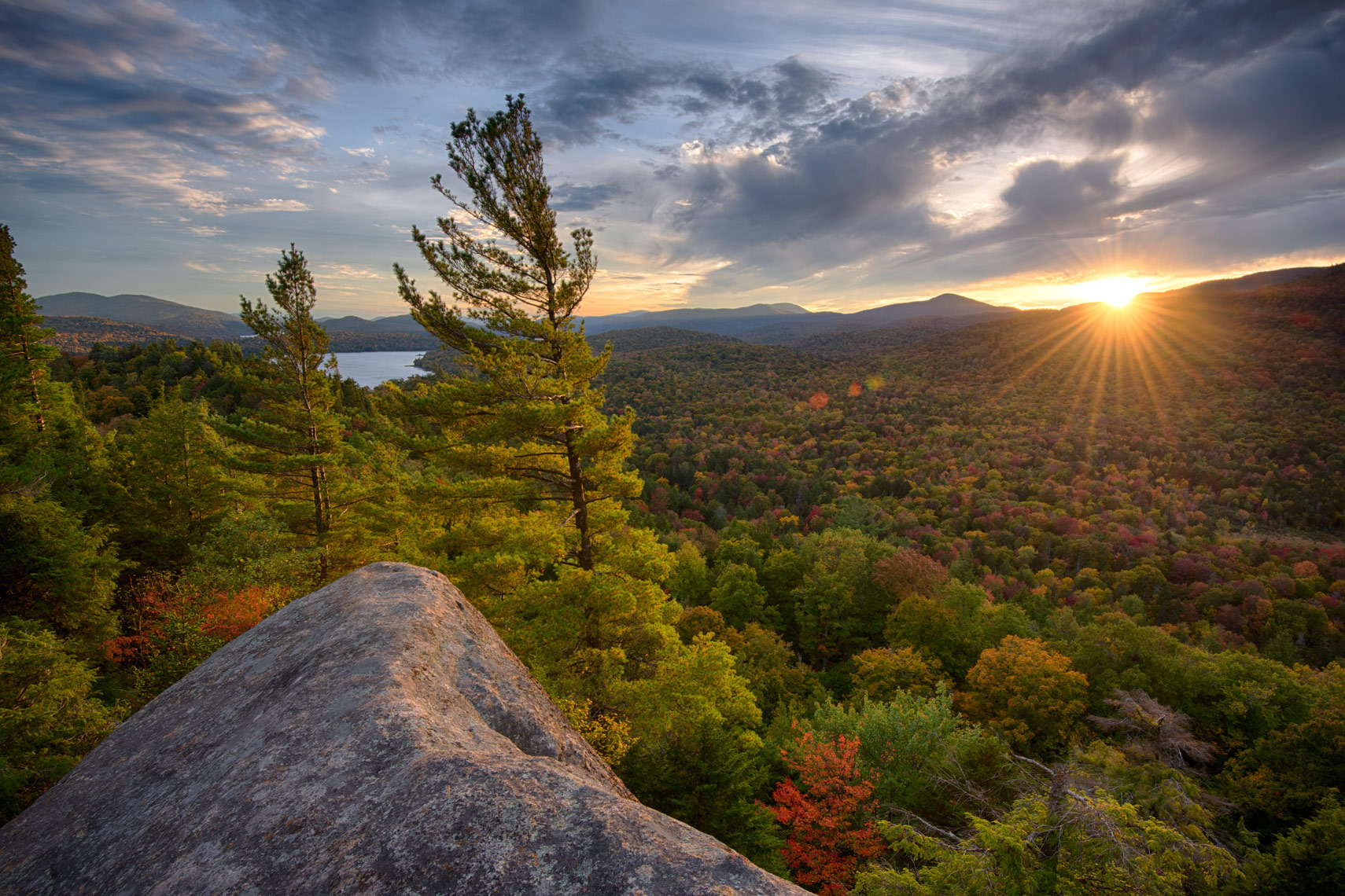 Watch Hill Sunset in Autumn, Adirondack Mountains, New York State